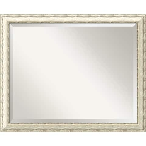 The Gray Barn Wilset Large Country Whitewash Wall Mirror