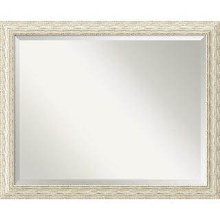 The Gray Barn Wilset Large Country Whitewash Wall Mirror - White Washed - large - 32 x 26-inch