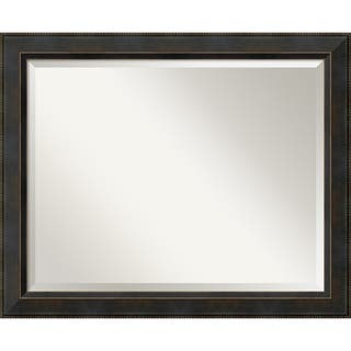 wall mirror large signore bronze 33 x 27 inch black - Mirror With Black Frame