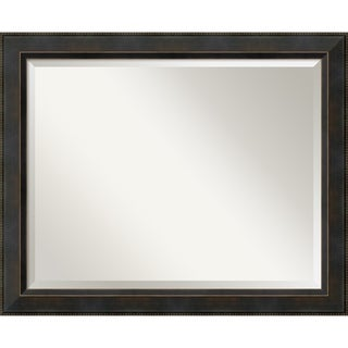 Wall Mirror Large, Signore Bronze 33 x 27-inch - Espresso - large - 33 x 27-inch