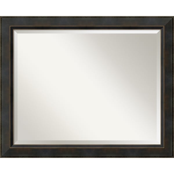 Wall Mirror Large, Signore Bronze 33 x 27-inch - Black