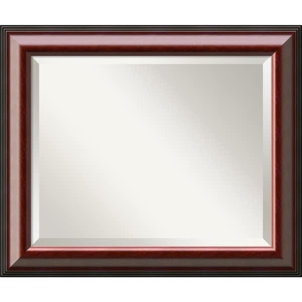 Wall Mirror Medium, Cambridge Mahogany 21 x 25-inch