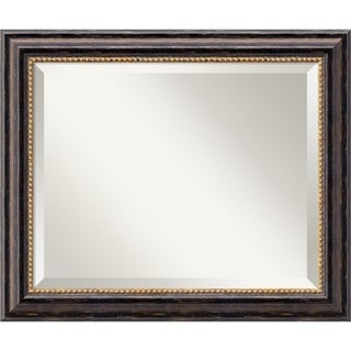 Wall Mirror Medium, Tuscan Rustic 20 x 24-inch - black/bronze