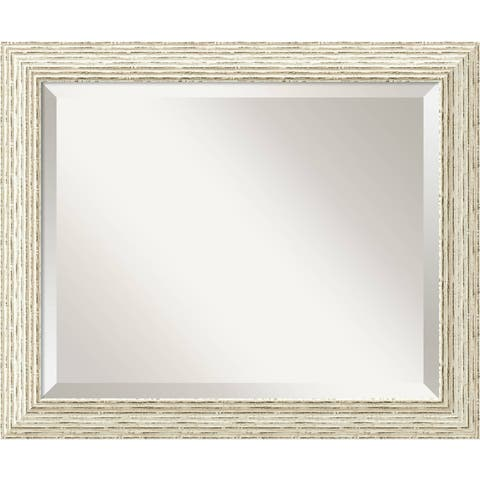 The Gray Barn Cocklebur Cape Cod White Wash Wood Wall Mirror