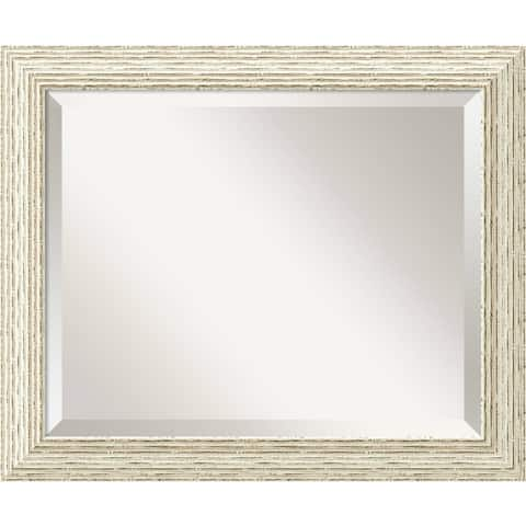 The Gray Barn Wilset Cape Cod White Wash Wood Wall Mirror