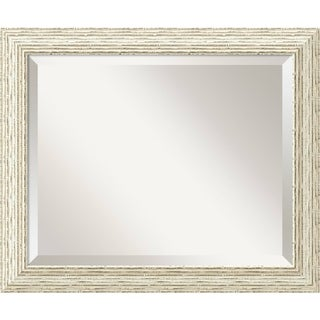 The Gray Barn Wilset Cape Cod White Wash Wood Wall Mirror