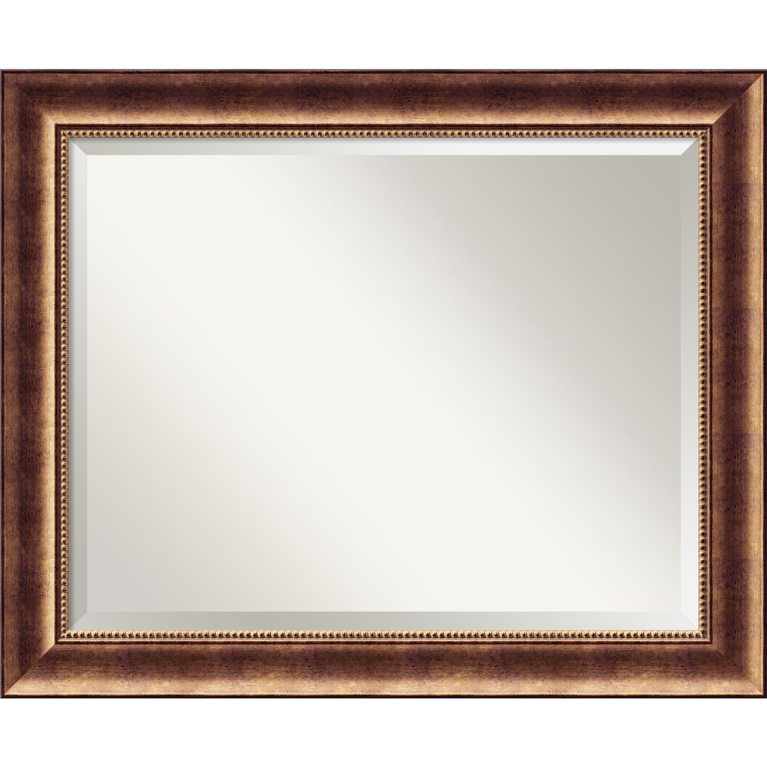 Wall Mirror Large Manhattan Bronze 34 X 28 Inch Red Large 34 X 28 Inch