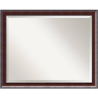 Wall Mirror Large, Country Walnut 31 x 25-inch - Black/Brown - large - 31 x 25-inch