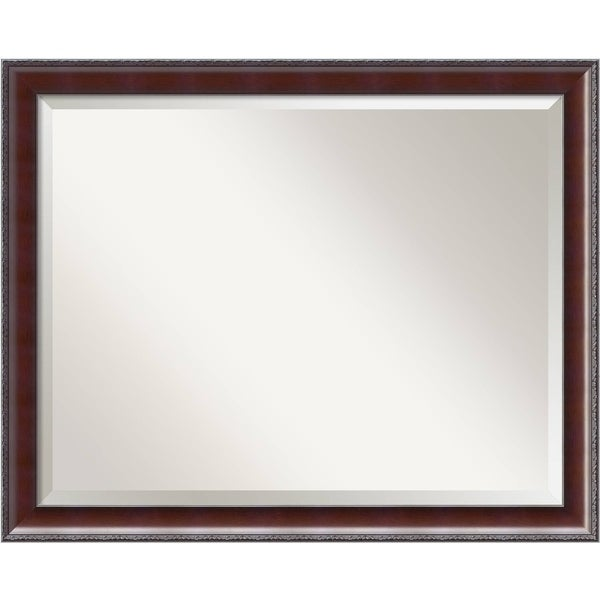 Wall Mirror Large, Country Walnut 31 x 25-inch