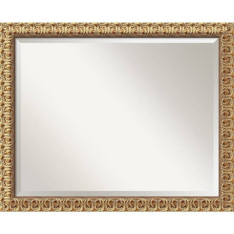 Wall Mirror Large, Florentine Gold 32 x 26-inch - large - 32 x 26-inch