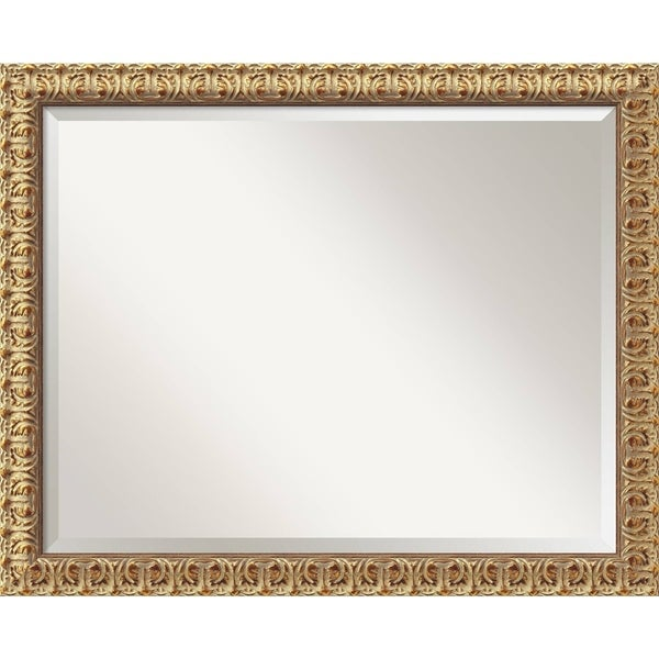 Wall Mirror Large, Florentine Gold 32 X 26 by Amanti Art
