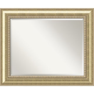 Wall Mirror Large, Astoria Champagne 35 x 29-inch - Gold