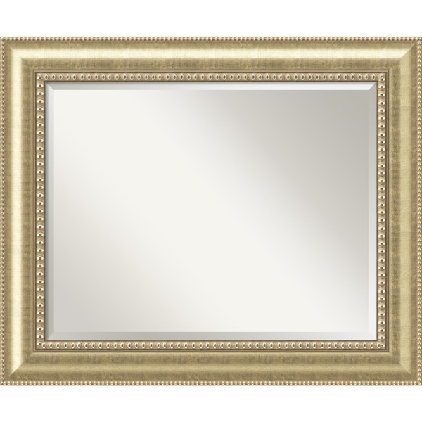 Large Gold Wall Mirror wall mirror large, astoria champagne 35 x 29-inch - gold - free
