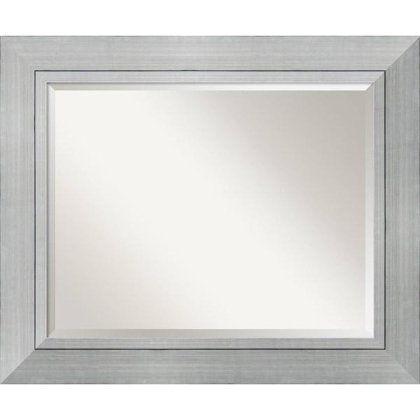 Wall Mirror Large, Romano Silver 36 x 30-inch