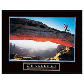 Framed Art Print 'Challenge: Runner' 29 x 23-inch