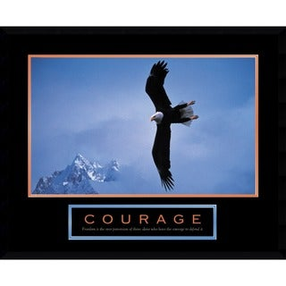 Courage: Bald Eagle' Framed Art Print