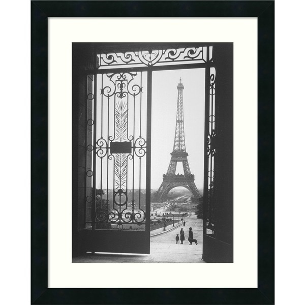 Framed Art Print 'The Eiffel Tower From The Trocadero, 1925' by Gall 18 x 22-inch