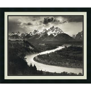 Framed Art Print 'The Tetons and the Snake River, Grand Teton National Park, Wyoming, 1942' by Ansel https://ak1.ostkcdn.com/images/products/3942133/P11978255.jpg?impolicy=medium