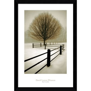 Framed Art Print 'Solitude' by David Lorenz Winston 27 x 39-inch