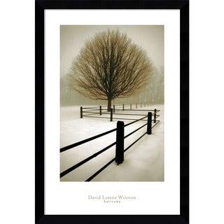 Framed Art Print 'Solitude' by David Lorenz Winston 27 x 39-inch