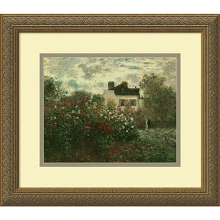 Framed Art Print 'The Artist's Garden at Argenteuil, 1873' by Claude Monet 16 x 14-inch