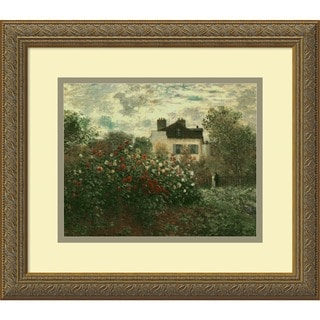 Claude Monet 'The Artist's Garden at Argenteuil, 1873' Framed Art Print