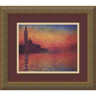 Framed Art Print 'Dusk, Sunset in Venice, 1908' by Claude Monet 20 x 17-inch