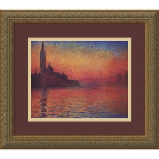 Claude Monet 'Dusk, Sunset in Venice, 1908' Framed Art Print