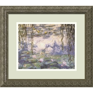 Framed Art Print 'Water Lilies and Willow Branches' by Claude Monet 16 x 14-inch