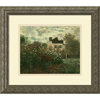 Claude Monet 'The Artist's Garden at Argenteuil, 1873' Framed Art Print
