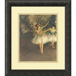 Edgar Degas 'Two Dancers on Stage c. 1874' Framed Art Print