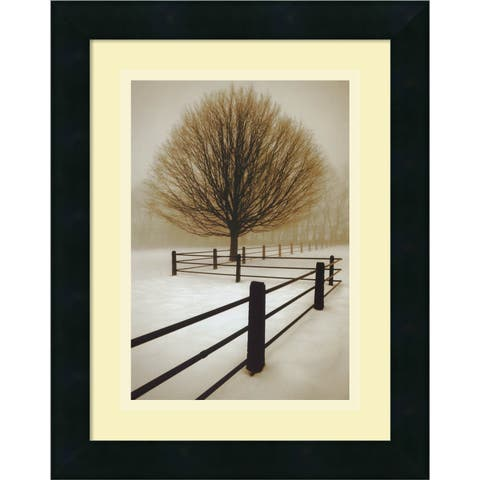 Framed Art Print 'Solitude' by David Lorenz Winston 12 x 16-inch