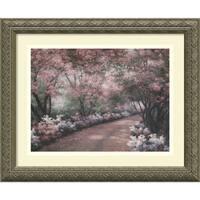 Framed Art Print 'Azalea Walk' by Diane Romanello 17 x 14-inch