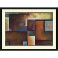 Framed Art Print 'Satori I' by Mari Giddings 39 x 29-inch