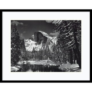 Framed Art Print 'Half Dome, Winter - Yosemite National Park, 1938' by Ansel Adams 29 x 23-inch