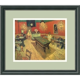 Framed Art Print 'The Night Cafe, 1888' by Vincent van Gogh 16 x 14-inch