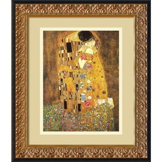 Gustav Klimt 'The Kiss (Le Baiser / Il Baccio), 1907' Framed Art Print