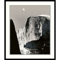 Framed Art Print 'Moon Over Half Dome' by Ansel Adams 27 x 32-inch