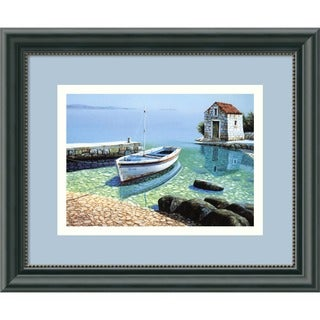 Framed Art Print 'Morning Reflections' by Frane Mlinar 12 x 10-inch
