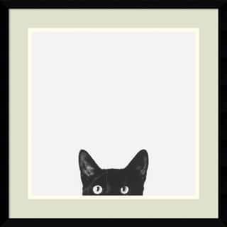 Framed Art Print 'Curiosity (Cat)' by Jon Bertelli 20 x 20-inch|https://ak1.ostkcdn.com/images/products/3942231/P11978343.jpg?impolicy=medium