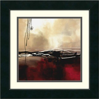 Framed Art Print 'Symphony in Red and Khaki I' by Laurie Maitland 18 x 18-inch