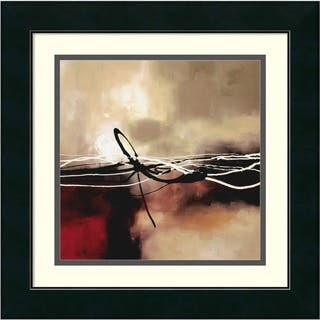 Framed Art Print 'Symphony in Red and Khaki II' by Laurie Maitland 18 x 18-inch|https://ak1.ostkcdn.com/images/products/3942246/P11978350.jpg?impolicy=medium