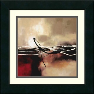 Framed Art Print 'Symphony in Red and Khaki II' by Laurie Maitland 18 x 18-inch