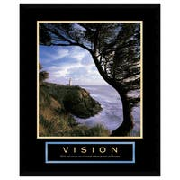 Framed Art Print 'Vision: Lighthouse' 23 x 29-inch