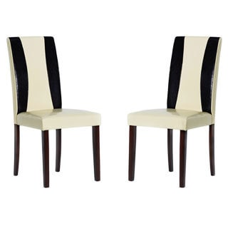 Savana Bi-cast Leather Chairs (Set of 2)