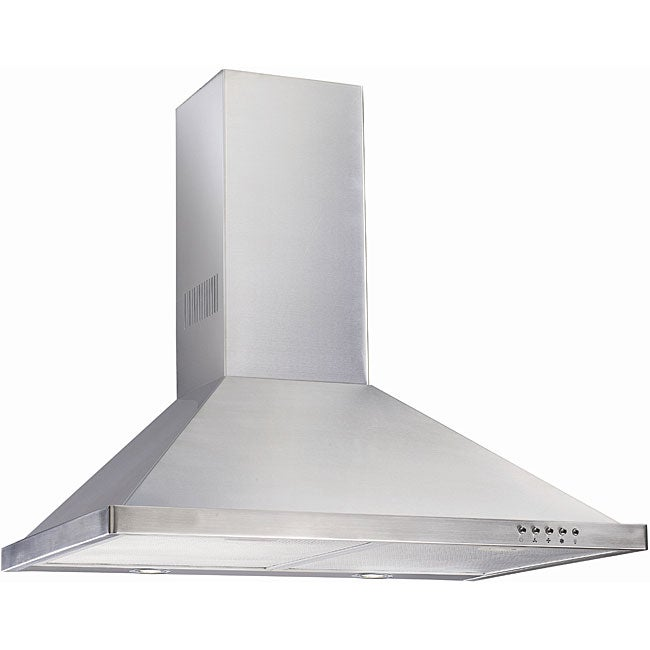 Wall-mounted Aurel 30-inch Contemporary Stainless Steel Range Hood