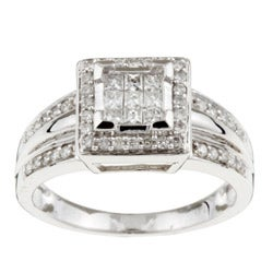 Eloquence 14k White Gold 1/2ct TDW Diamond Ring (G-H, I3)