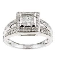 Eloquence 14k White Gold 1/2ct TDW Diamond Ring