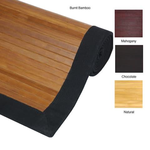 Handmade Bamboo Rug - 4' x 6'