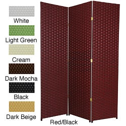 Handmade Woven Fiber 6-foot 3-panel Room Divider (China)